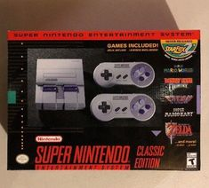 #videogames #Gamers #nintendo classic mini Super Nintendo Entertainment System SNES Classic Edition Mini IN HAND SHIPS FAST 41.00      Item specifics    									 			Condition:  												 																	 															  															 															 																New: A brand-new,...