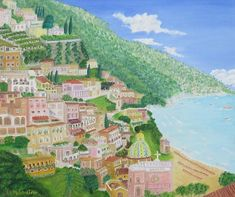 Positano Morning View Morning View, Positano, Golf Courses, Art Prints, Positano Italy, Art Impressions