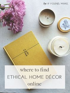 Where to find Ethically Made Home Decor / ethical shopping guide usa