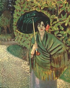 Henri Matisse ~ Woman with Green Umbrella, c.1920