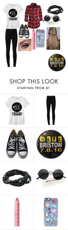 """5sos slfl tour"" by serotoninsara ❤ liked on Polyvore featuring Frame Denim, Converse, King Baby Studio, tarte and Zero Gravity"