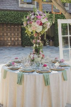We love the gorgeous decor for this Spring Wedding.