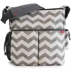 Amazon.com : Skip Hop Duo Essential Diaper Bag, French Stripe : Diaper Tote Bags : Baby