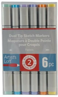 Artist/'s Loft 24 Piece Dual Tips Sketch Markers Level 2 New Factory Sealed