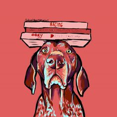 German shorthaired pointer by CartoonYourMemories on Etsy https://www.etsy.com/listing/160629626/german-shorthaired-pointer