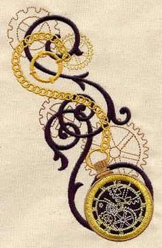 Embroidered Flour Sack Towel Set Of Two - Gear Pocket Watch $40 - click on the photo for a direct link -   http://goreydetails.net/shop/index.php?main_page=product_info=37_88_id=1113