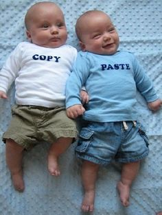 Ahahahaha this makes me want twins!!