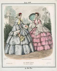 July, 1858 - Le Bon Ton