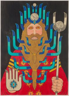 Matt Leines, The Overlord, 2008 Ink and watercolor on paper 20 x 14.25 ...