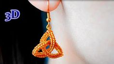 Beaded Pendant Triangle with seed & bugle beads. 3D Beading Tutorial - YouTube