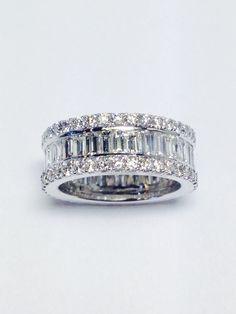 4.50CT Diamond Eternity Band Wedding Bands Anniversary Ring
