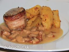 Panenka v slaninovom kabáte s hríbovou omáčkou - Na slávnostný obed