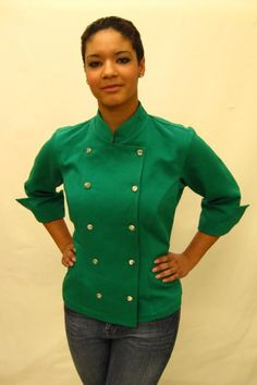 Cropped Green Women's Chef Coat told my boyfriend. no little hints so i better see this