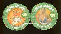 #AtlanticCityCasinoChip of the Day is a $25 Hooters 2nd Anniversary you can get here https://www.all-chips.com/ChipDetail.php?ChipID=817 #CasinoChip #Hooters #TrumpMarina #AtlanticCity #Trump