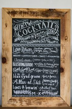 chalkboard cocktail menu // photo by Chris + Jenn Photography, styling by Styling Starts Here // view more: http://ruffledblog.com/romantic-agoura-hills-wedding