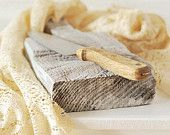 Handmade Rustic Cutting Board - Food Styling Prop.