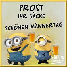 Lachen Macht Happy, Happy Minions, Funny, Mai, Judith, Fathers Day Pics, Beer Funny, Minion Jokes, Adult Humor