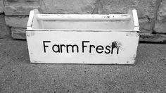 Farm fresh box farmhouse kitchen decor rustic by SimplyCozyDecor