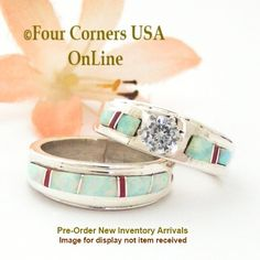 Four Corners USA Online - Pre Order Size 5 1/2 White Fire Opal and Coral Engagement Bridal Wedding Ring Set Native American Wilbert Muskett Jr WS-1628, $240.00 (http://stores.fourcornersusaonline.com/pre-order-size-5-1-2-white-fire-opal-and-coral-engagement-bridal-wedding-ring-set-native-american-wilbert-muskett-jr-ws-1628/)