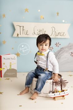 "I LOVE doing unique sessions that are very special to each family, when this Mom came to me with the idea of basing her son's Cake Smash session around the book, ""The Little Prince"", I was totally in! My brain started working and I came up with a unique set that was both classy and based off of the…"