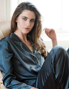 Luxury women's silk nightwear by SILK & GREY. Shop classic Coco Chanel style pajamas, inspired silk slips and cosiest cashmere dressing gowns Satin Pajamas, Pyjamas, Sandro, Silk Pjs, Pijamas Women, Smart Dress, Cute Pajamas, Fashion Sketches, Pyjama Sets