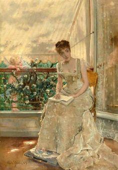 Alfred Émile Léopold Stevens - La Femme et l'amour.