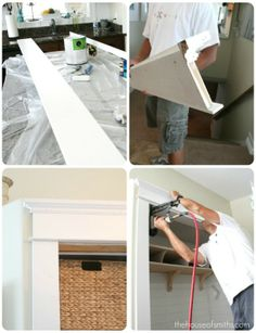 Great ideas for casing doors slapdash style, turning paneling sideways (who knew?), and turning a closet into a mudroom bench.