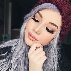 WEBSTA @ hailiebarber - Soft n Peachy Keen✨-@mellowcosmetics Dark Brown brow pomade @toofaced Sweet Peach palette, Papa Don't Peach blush, Peach Fuzz lip gloss,