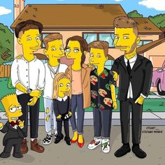 Nice to see the Beckham's make The Simpsons.Who's been you're best Cameo appearance in the show? Ours has to be Michael Jackson as Leon Kompowski Harper Beckham, David Beckham, Celebrity Kids, Celebrity Outfits, The Beckham Family, Victoria And David, Girls Designer Clothes, Kardashian Family, Little Fashionista