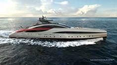 M60 SeaFalcon: Luiz de Basto Designs for Mondomarine #SeaFalcon #MegaYacht #Yacht #ヨット
