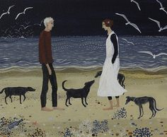 Dee Nickerson 'We Should Keep Meeting Like This' Acrylic on Paper