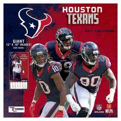 Houston Texans 2017 Calendar, Multicolor