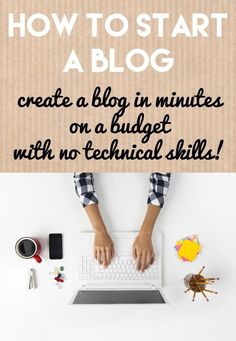 Learn how to start a blog from a full time blogger - even if you're on a budget and have no technical skills. It only takes a few minutes!