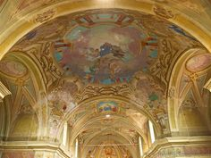 Tollegno (Biella, Italy) - Decorated ceiling of the Church of San Germano