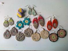 bunte Ohrhänger Bunt, Crochet Earrings, Ceramics, Drop Earrings, Jewelry, Ceramica, Pottery, Jewlery, Jewerly