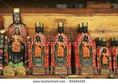 black madonna statue | Italy, Sicily, Tindari, religious statues of a Black Madonna for sale ...