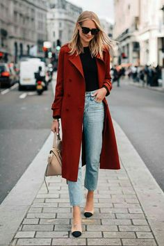 "Outfits Mode für Frauen 2019 - Нейтральный минимализм: Amy Jackson и ее ""городск. Amy Jackson, Chic Winter Outfits, Casual Winter Outfits, Fall Outfits, Autumn Casual, Winter Chic, Winter Style, Casual Clothes, Women's Clothes"