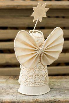 Navidad Angel Adorno adornos de Navidad de algodón por MaliLili