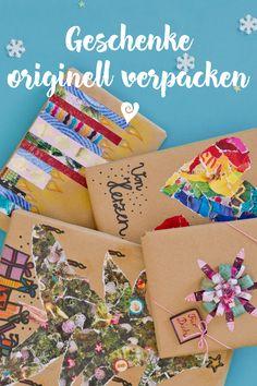Ideen, wie du Geschenke originell verpacken kannst. #Geschenke #Weihnachten Advent, Wraps, Gift Wrapping, Christmas, Gifts, Winter, Happy, Free, Gift