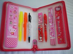 Hello Kitty School Stuff | 11PCS Sanrio Hello kitty School Supplies Value Set with Zipper Pouch ...