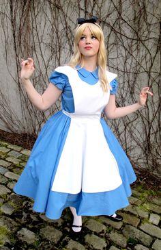 Alice im Wunderland-Kostüm für Mädchen und Frauen am Fasching