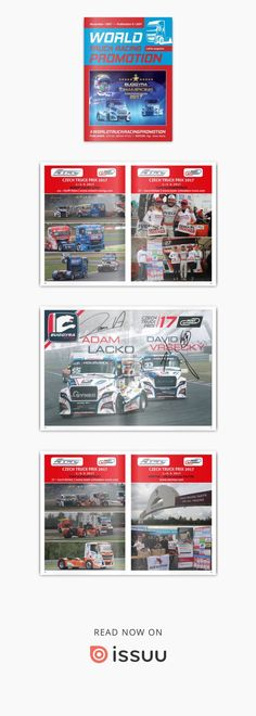 WORLD TRUCK RACING PROMOTION - November 2017  WORLD TRUCK RACING PROMOTION It is an Internet magazine that is published in digital form once a month. Its content focuses on the worldwide promotion and advertising of truck racing on race circuits as well as associated truck shows and truck festivals.