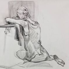 """138 Likes, 1 Comments - Damiane S. Cho (@damianescho) on Instagram: """"10! #drawing #conte #contedrawing #quickstudy #quickdrawing #lifedrawing #figuredrawing…"""""""