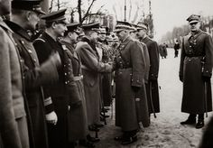 Marshal Edward Rydz-Śmigły, the military dictator of Poland, shaking hands with Bogislav von Studnitz, the German military attache in Warsaw, at the 1938 Polish Independence Day Parade. Poland was initially a de facto ally of Nazi Germany and Fascist Hungary in the 1938 Partition of Czechoslovakia, but because of eventual territorial disputes on the Baltic Sea coastline, Poland and Germany would be at war against each other in less than a year later in 1939.