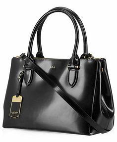 1891e026252 Lauren Ralph Lauren Taylor Double Zip Shopper Handbags   Accessories -  Macy s