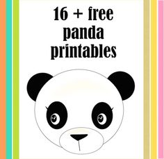 21 FREE printable panda gifts, cards and toys   round-up