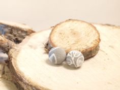 Items similar to Custom/Personalized Handmade Fabric Button Earring with Hypoallergenic Silver Plated Surgical Steel Posts and 925 Silver Butterfly Backs on Etsy Great Mothers Day Gifts, Cute Messages, Button Earrings, Plating, Place Card Holders, Buttons, Christmas Ornaments, Holiday Decor, Unique Jewelry