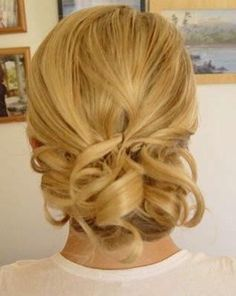 Simple and pretty. A great updo for shoulder-length hair.