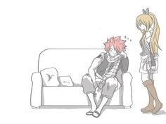 Natsu, Lucy, kiss, couple, sleeping, cute, funny, gif; Fairy Tail