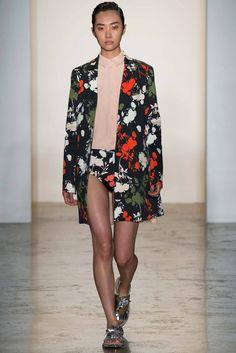 #PeterSom #SS2015 #Catwalk #MBFWNY #NewYork #trends #flowerPrints